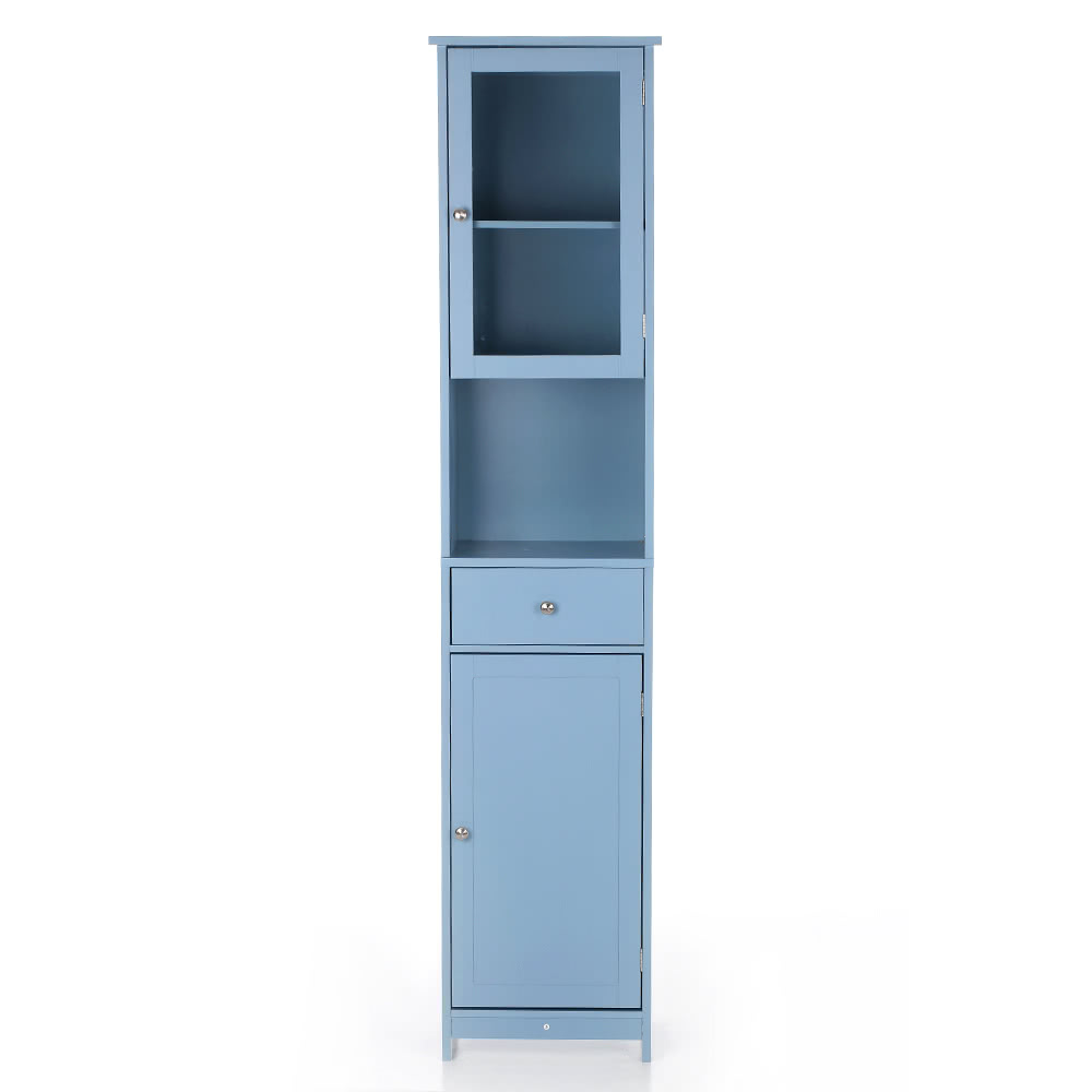 tomtop.com - [EU Warehouse] 52% OFF iKayaa Modern Tower Tall Storage Cabinet with Doors & Drawer, $89.99 (Inclusive of VAT)