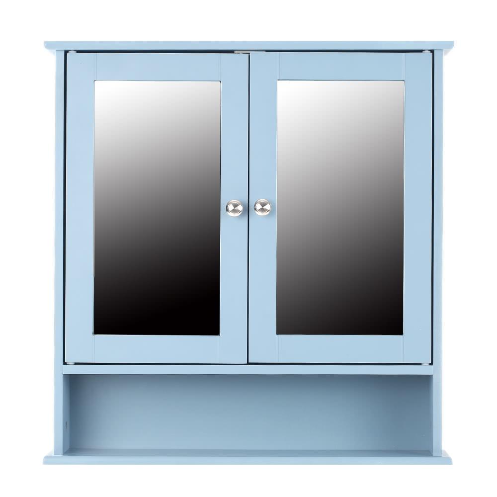 iKayaa moderno armadio a muro con porte in vetro e scaffali Cucina ...