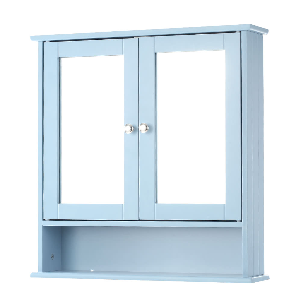 IKayaa Modern 2-Door Wall Cabinet With Glass Doors