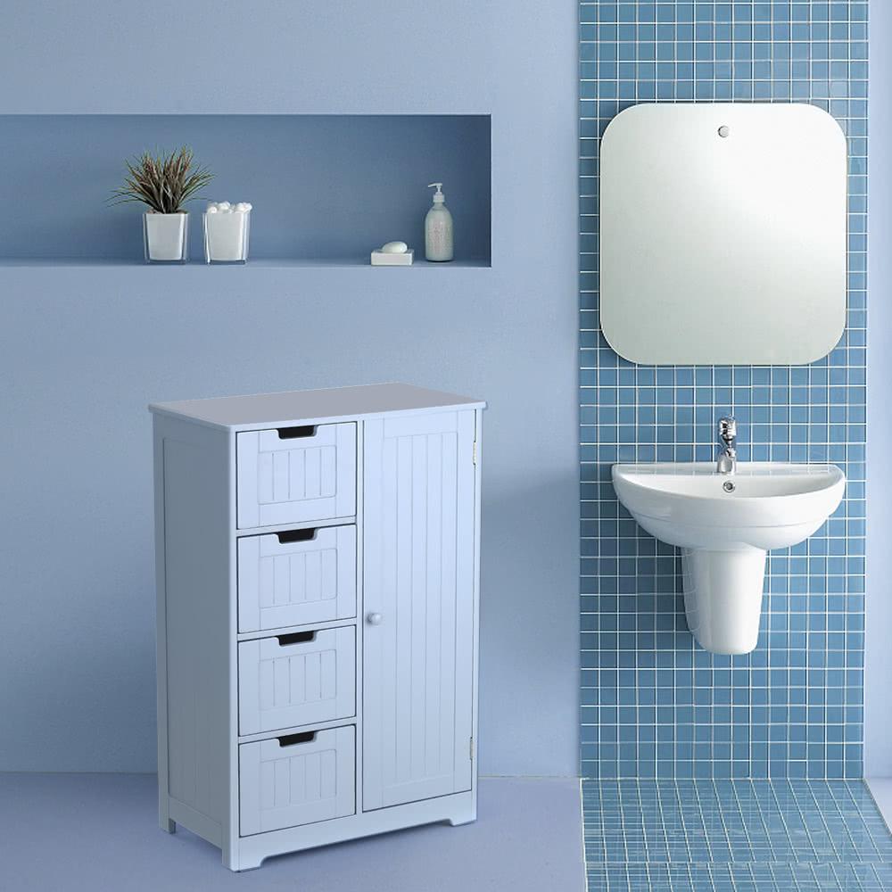 Ikayaa gabinete de piso moderno con muebles de puerta y for Muebles l moderno