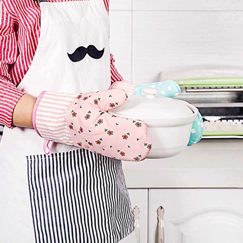 anti rutsch k che ofen handschuhe hitzebest ndige baumwollhandschuhe zum kochen backen barbecue. Black Bedroom Furniture Sets. Home Design Ideas