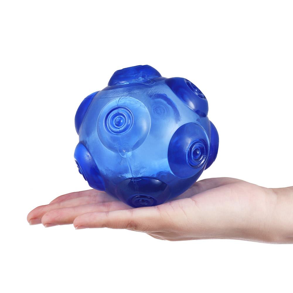Durable gummi haustier hund spielzeug ball quietschen