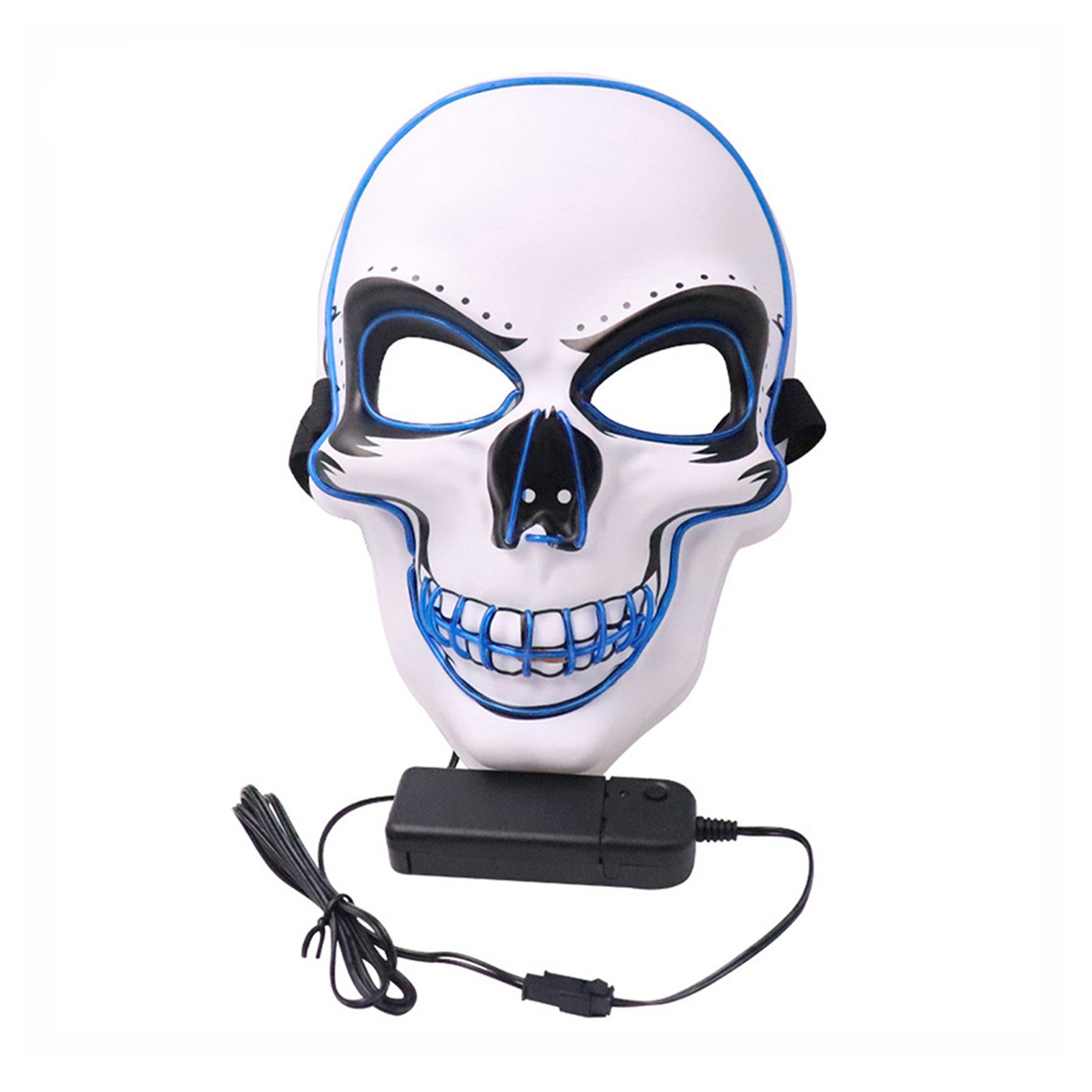 Cafago - 54% OFF Halloween Mask EL Wired Light Up Mask Cosplay Scary Mask for Halloween Festival Party,free shipping+$13.14