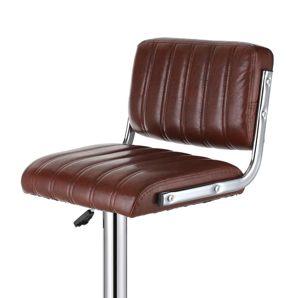 ikayaa 2pcs set de 2 fauteuils de bar pivotants en cuir. Black Bedroom Furniture Sets. Home Design Ideas