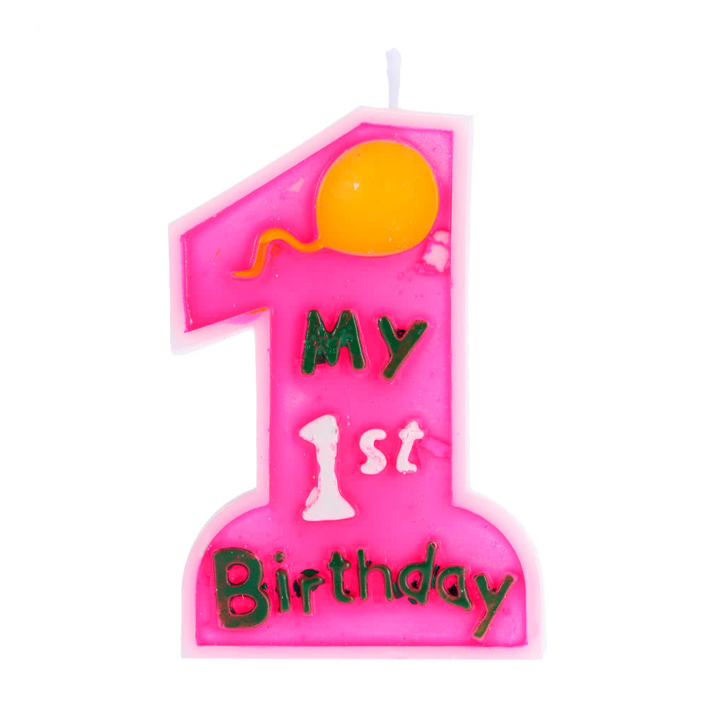 Douself My 1st Birthday Cake Candle Kids First One Anniversary Party Decor Decoration Supply Sales Online Pink