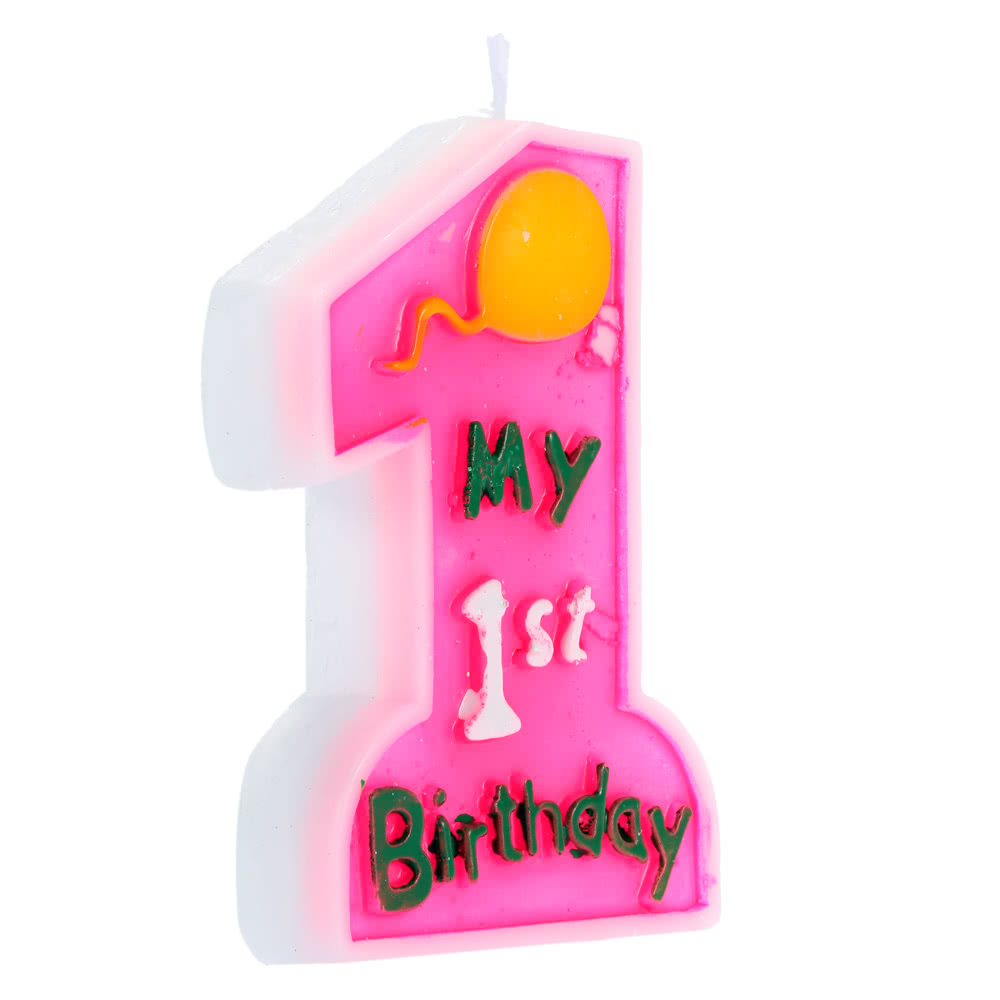 Douself My 1st Birthday Cake Candle Kids First One Anniversary Party Decor Decoration Supply