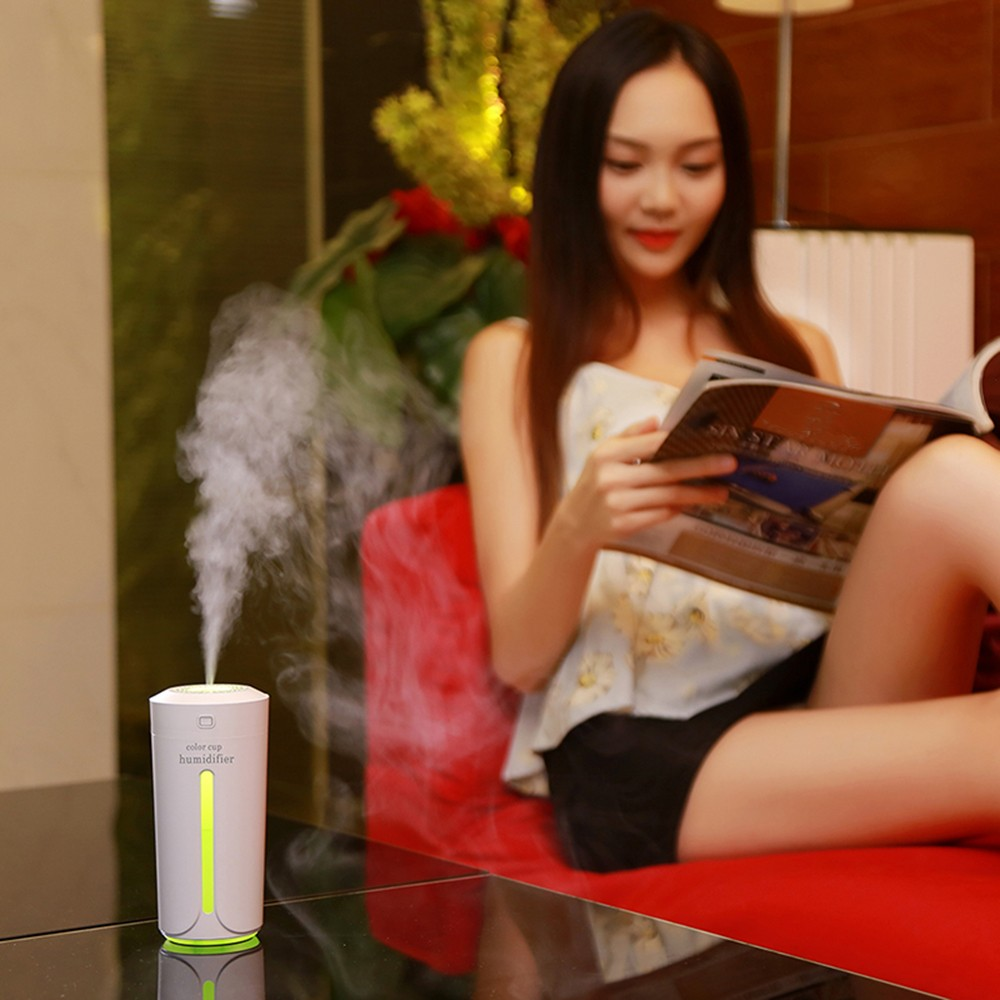 portable minuterie humidificateur d 39 air mini hydratant nuit lumi re diffuseur color pour la. Black Bedroom Furniture Sets. Home Design Ideas