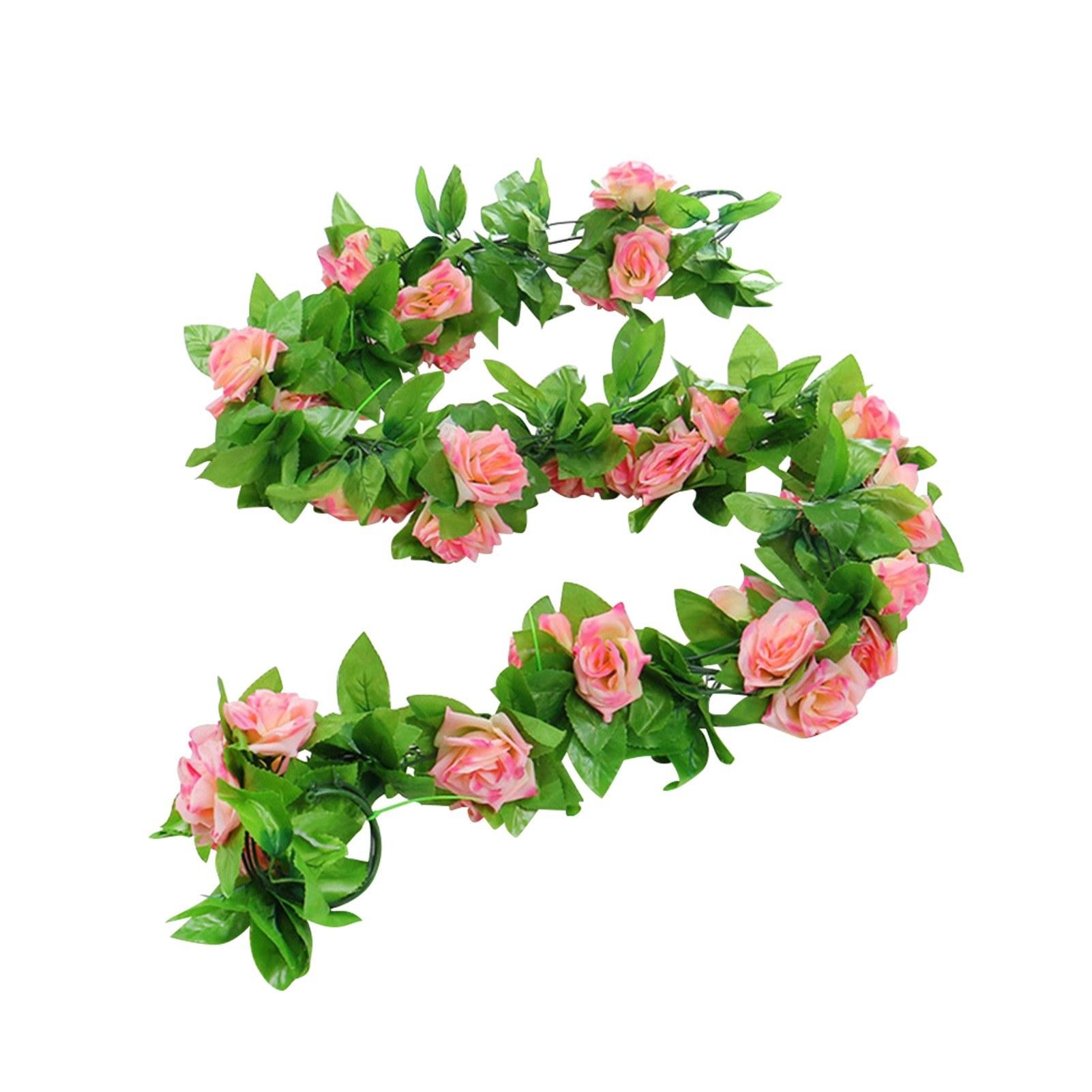 Tomtop - 78% OFF Flower Garland Fake Rose Vine, Free Shipping $10.49