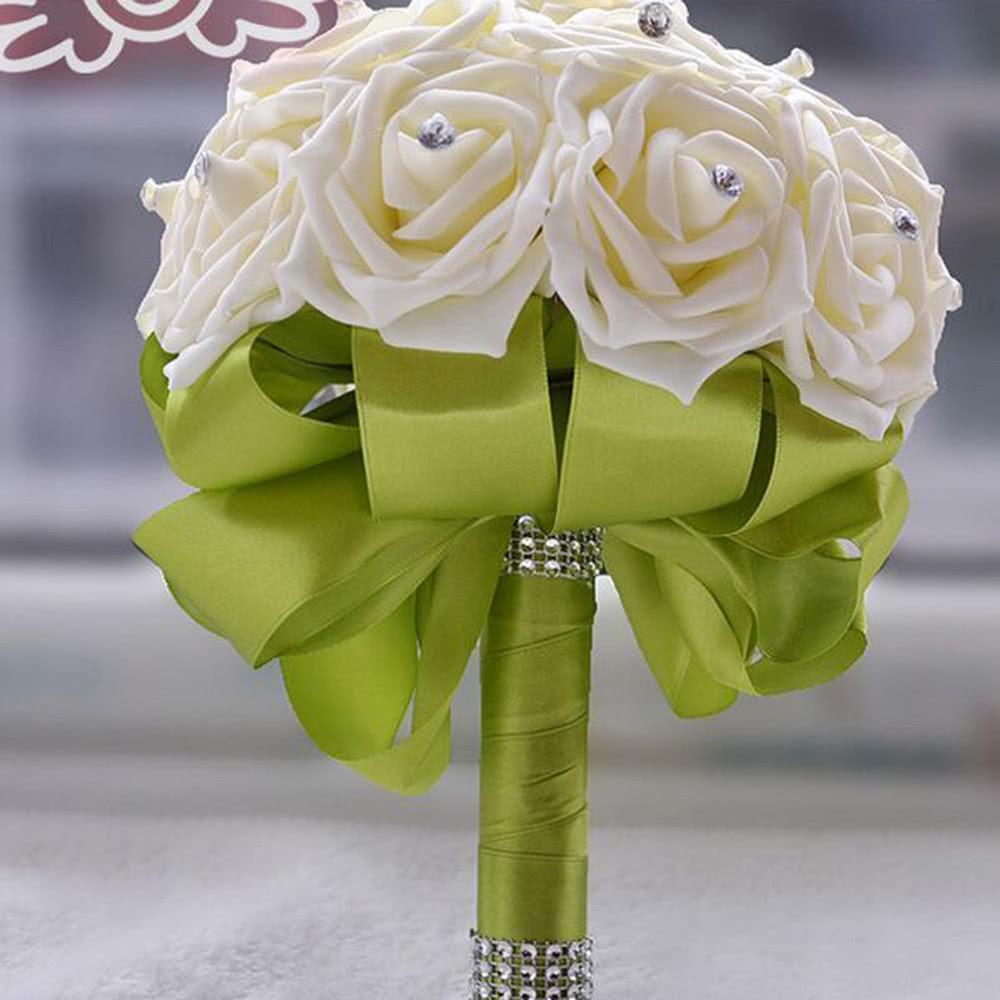 D coration de mariage fournitures de bureau ivoire rose luxe cristal produit vendable pour - Strass pour bouquet de mariee ...