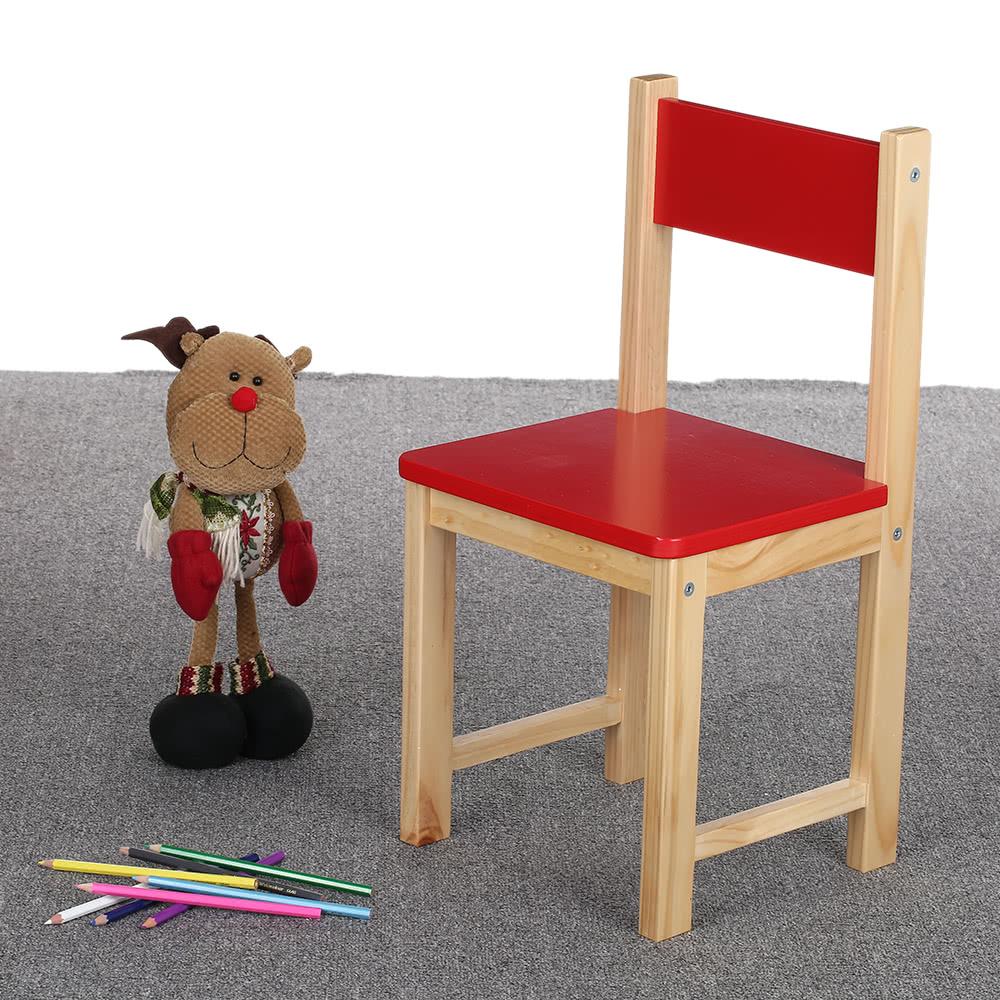 ikayaa cute wooden kids chair stool solid pine wood children