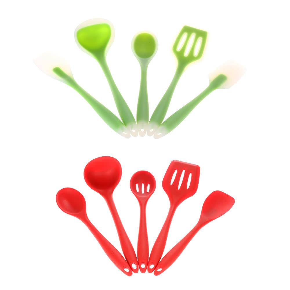 Haute qualit 5pcs silicone ustensiles de cuisine for Liquidation set de cuisine