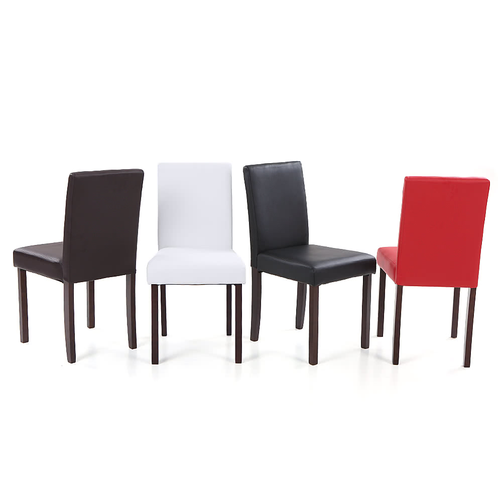 contemporary kitchen chairs uk ikayaa 2pcs set of 2 modern faux leather dining chairs 5704
