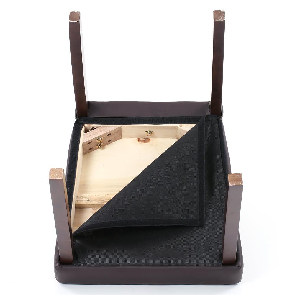 ikayaa 2st set 2 moderne kunstleder esszimmerst hle holzrahmen gepolsterte k che side parson. Black Bedroom Furniture Sets. Home Design Ideas