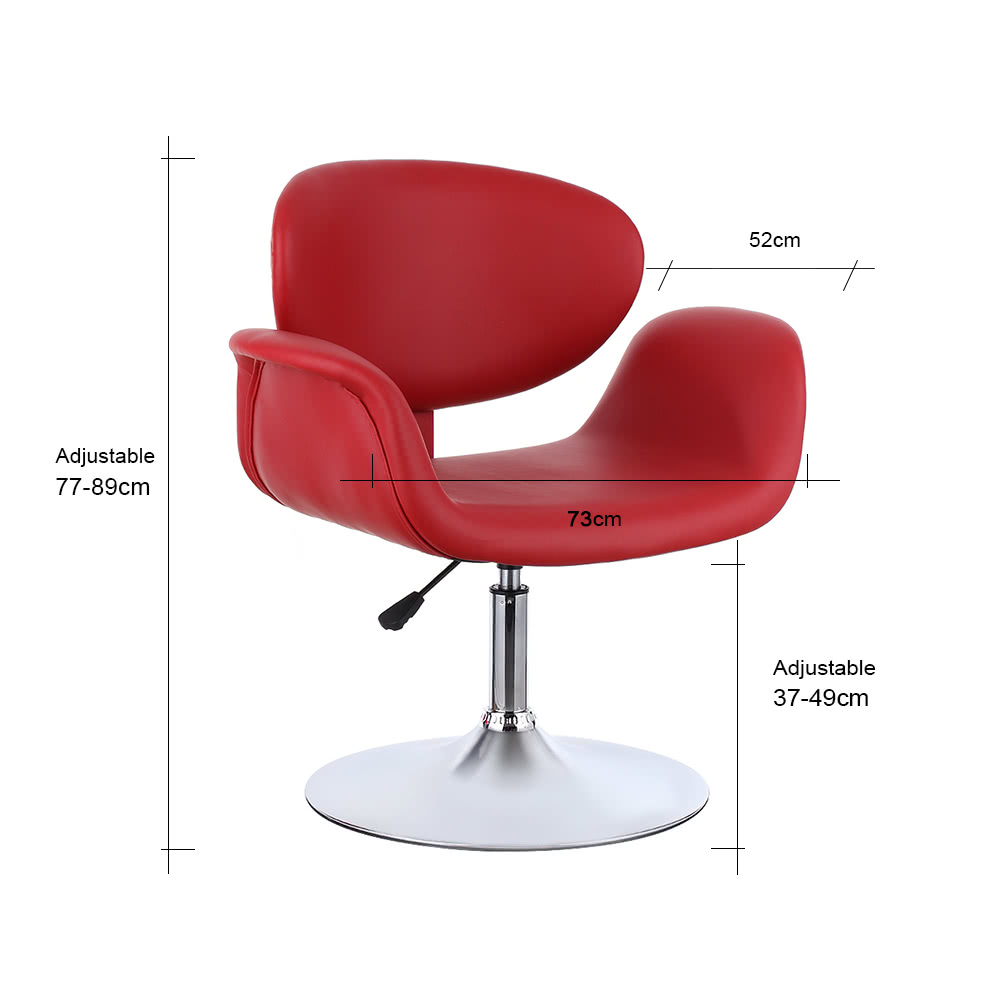 Ikayaa modern ergonomic adjustable pu leather salon barber for Cheap tattoo chairs uk