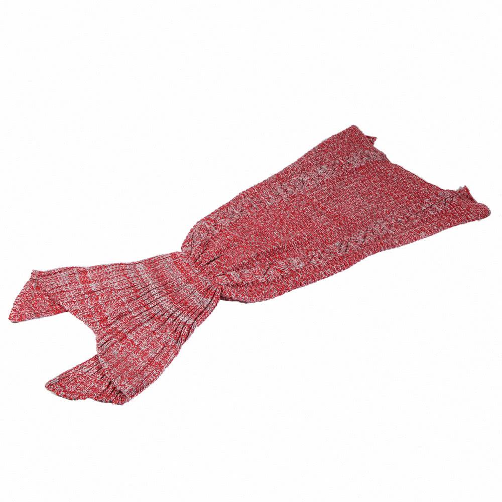 Populaire sir ne queue tiss s la main tricot laine couverture hiver climatisation couvertures - Tricot a la main ...