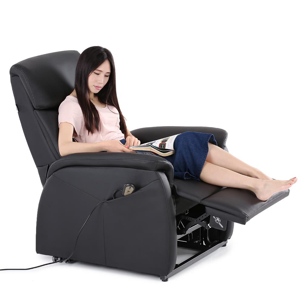 ikayaa modern comfortable power lift recliner padded high