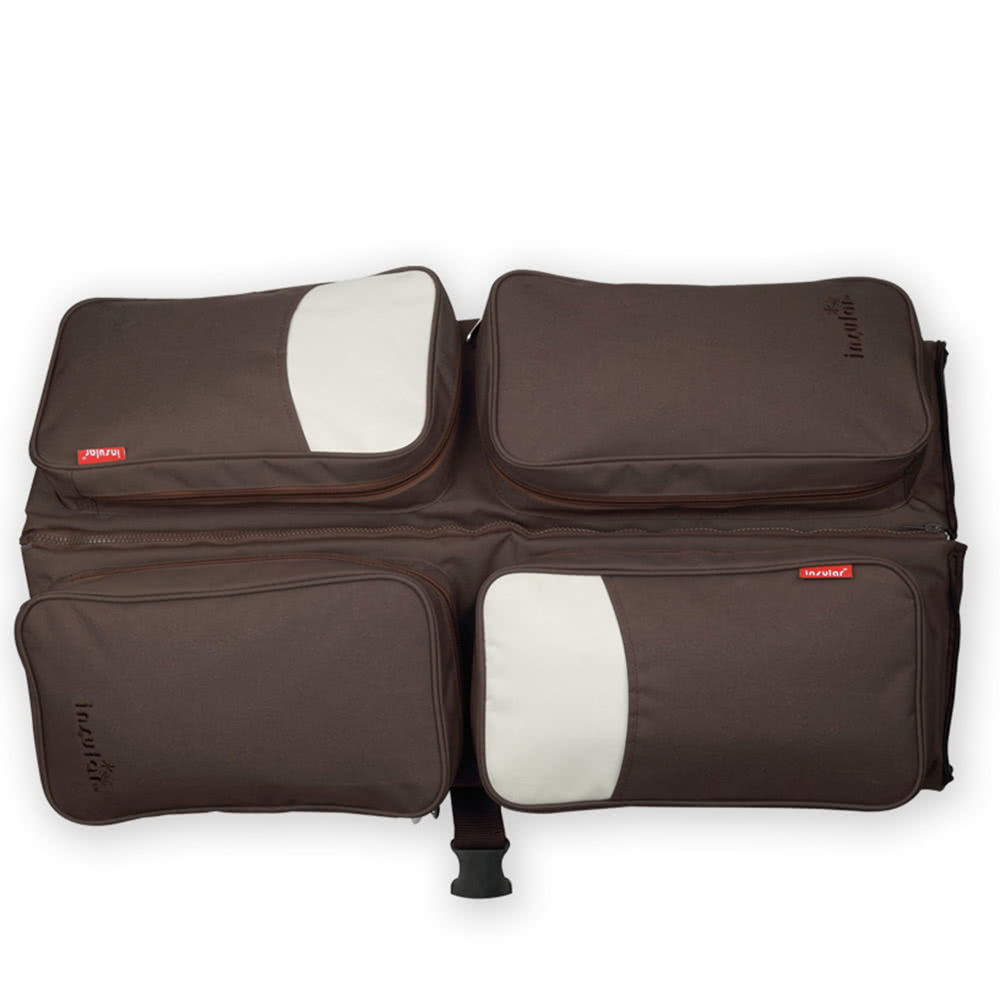 insular grande capacit multifonctionnelle sac de b b et maman porte b b portable 2 en 1 sac. Black Bedroom Furniture Sets. Home Design Ideas