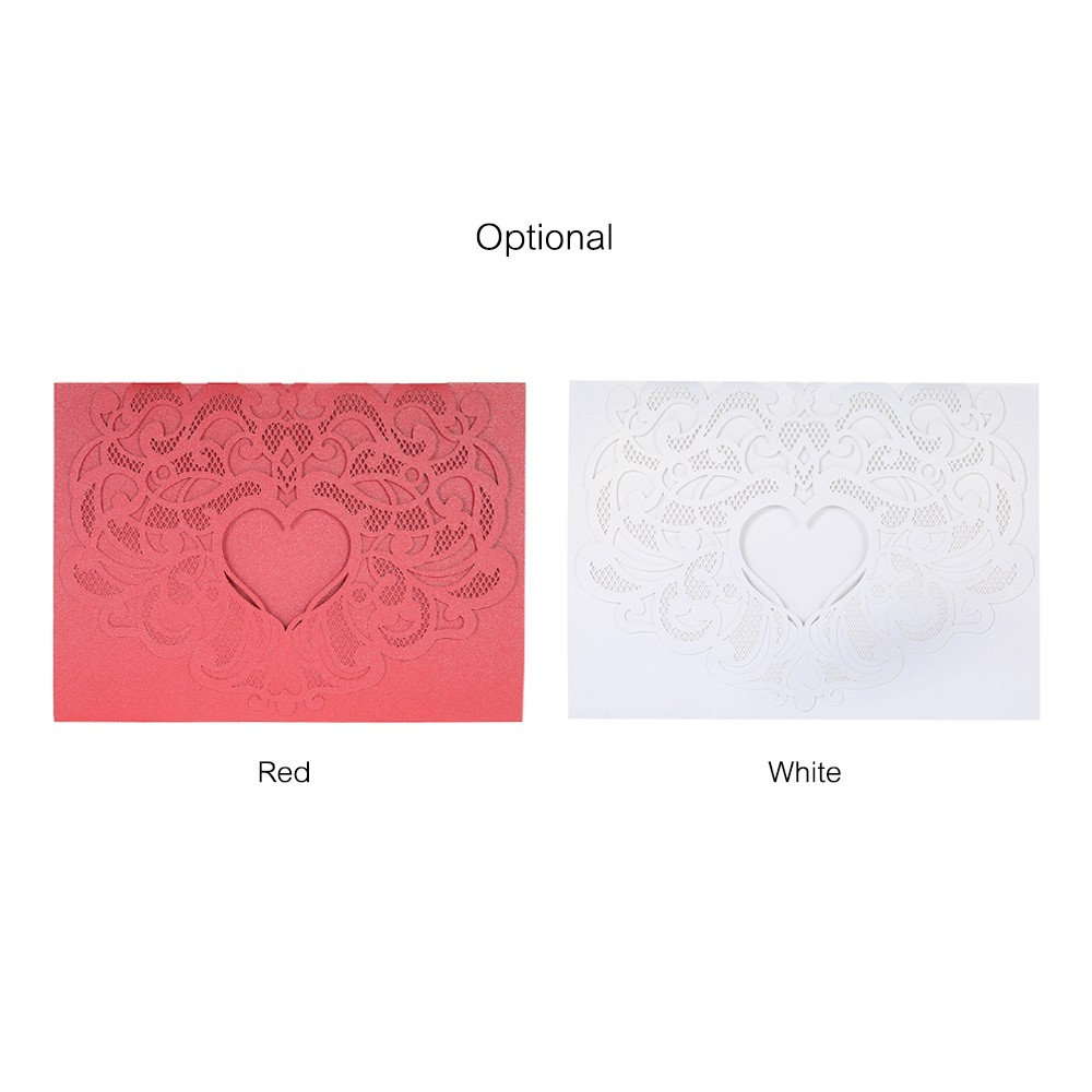 20pcs/set Wedding Invitation Cards Pearl Paper Laser Cut Hollow ...