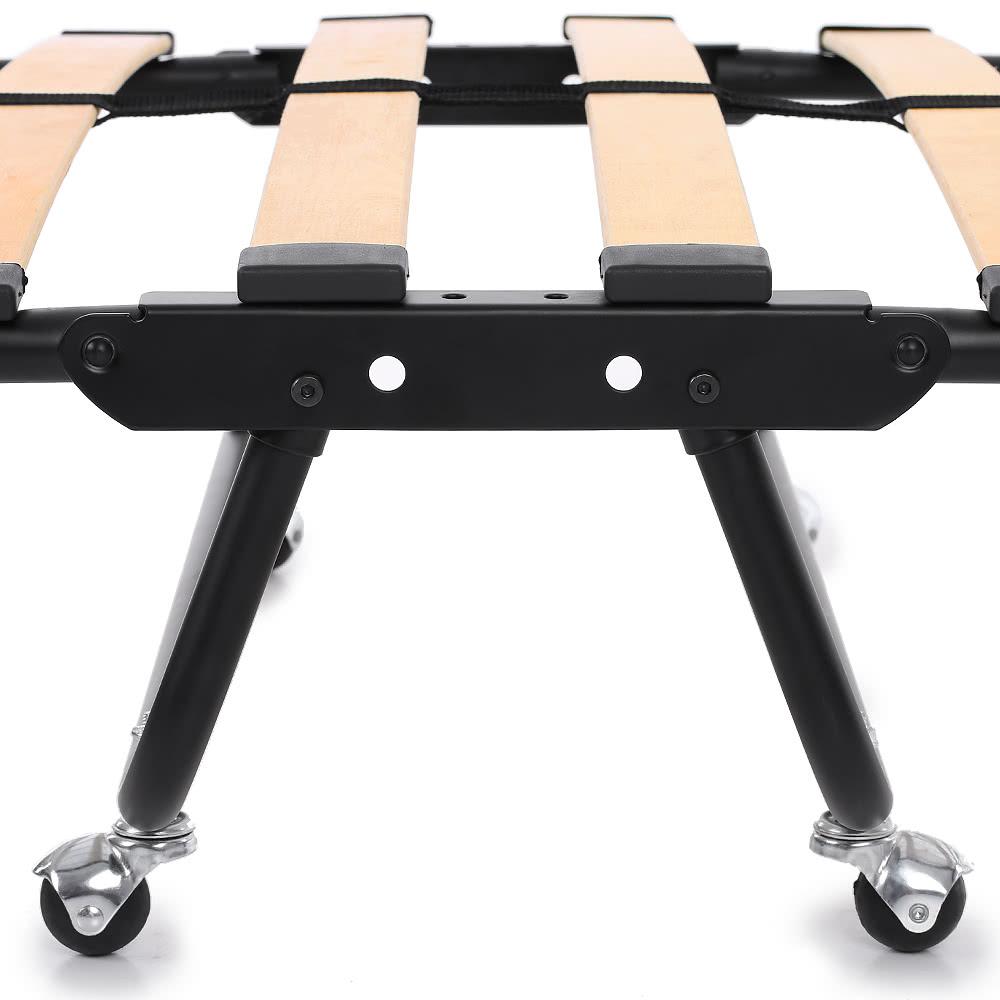 Ikayaa metallo legno aggiuntivo singolo pieghevole letto for Materasso ospiti pieghevole