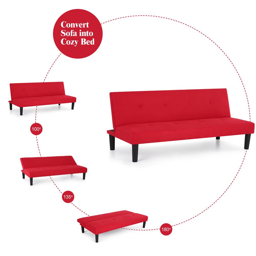 Contempor nea de microfibra fut n sof cama litera - Sofa cama convertible litera ...