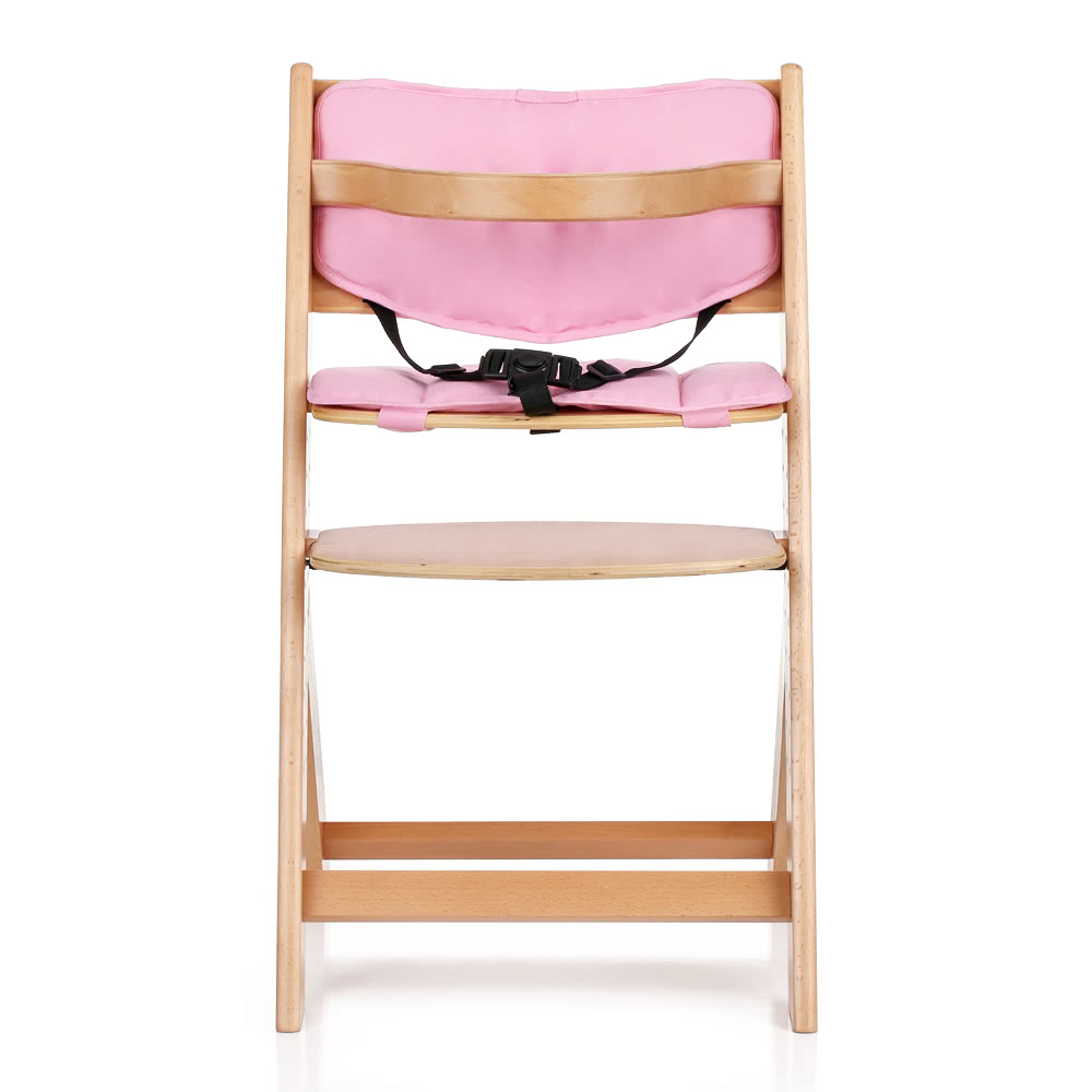baby dining chair. ikayaa toddler baby wooden high chair with cushion height adjustable beech wood highchairs for kids infant feeding dining sales online us - tomtop n