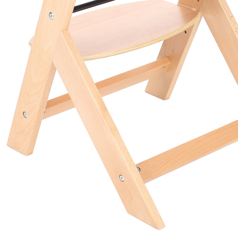 Ikayaa Toddler Baby Wooden High Chair With Cushion Height Adjule Beech Wood Highchairs For Kids Infant Feeding Dining
