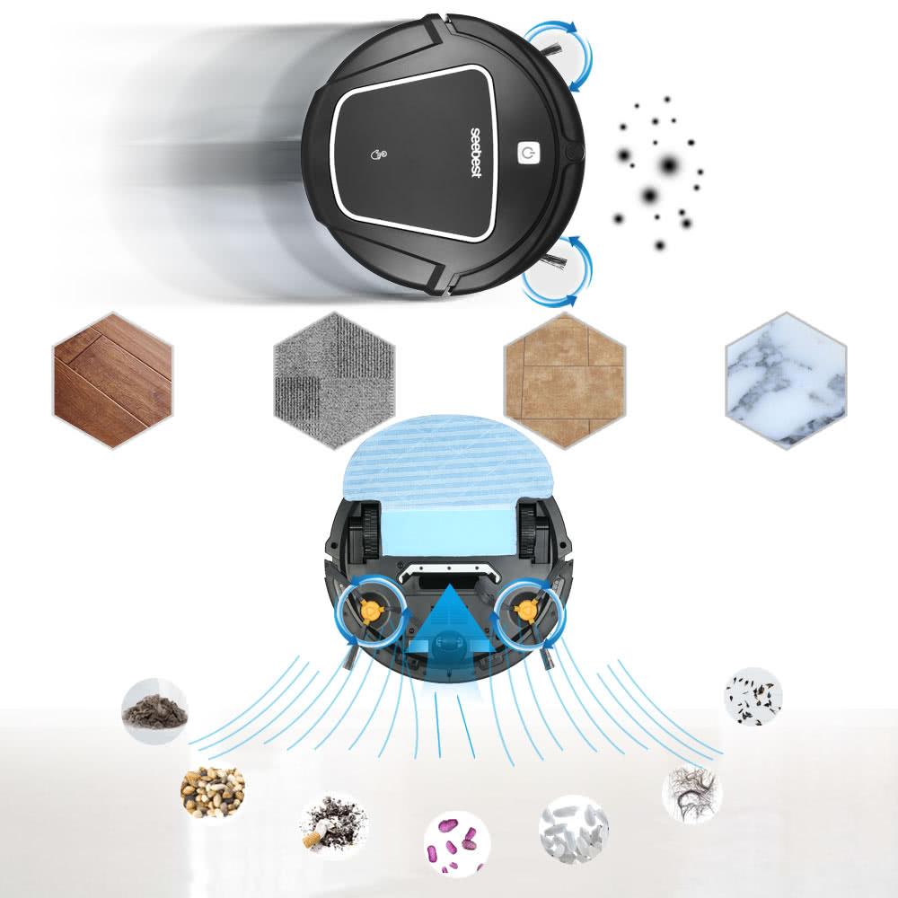 seebest d720 automatischer wiederaufladbarer roboter. Black Bedroom Furniture Sets. Home Design Ideas