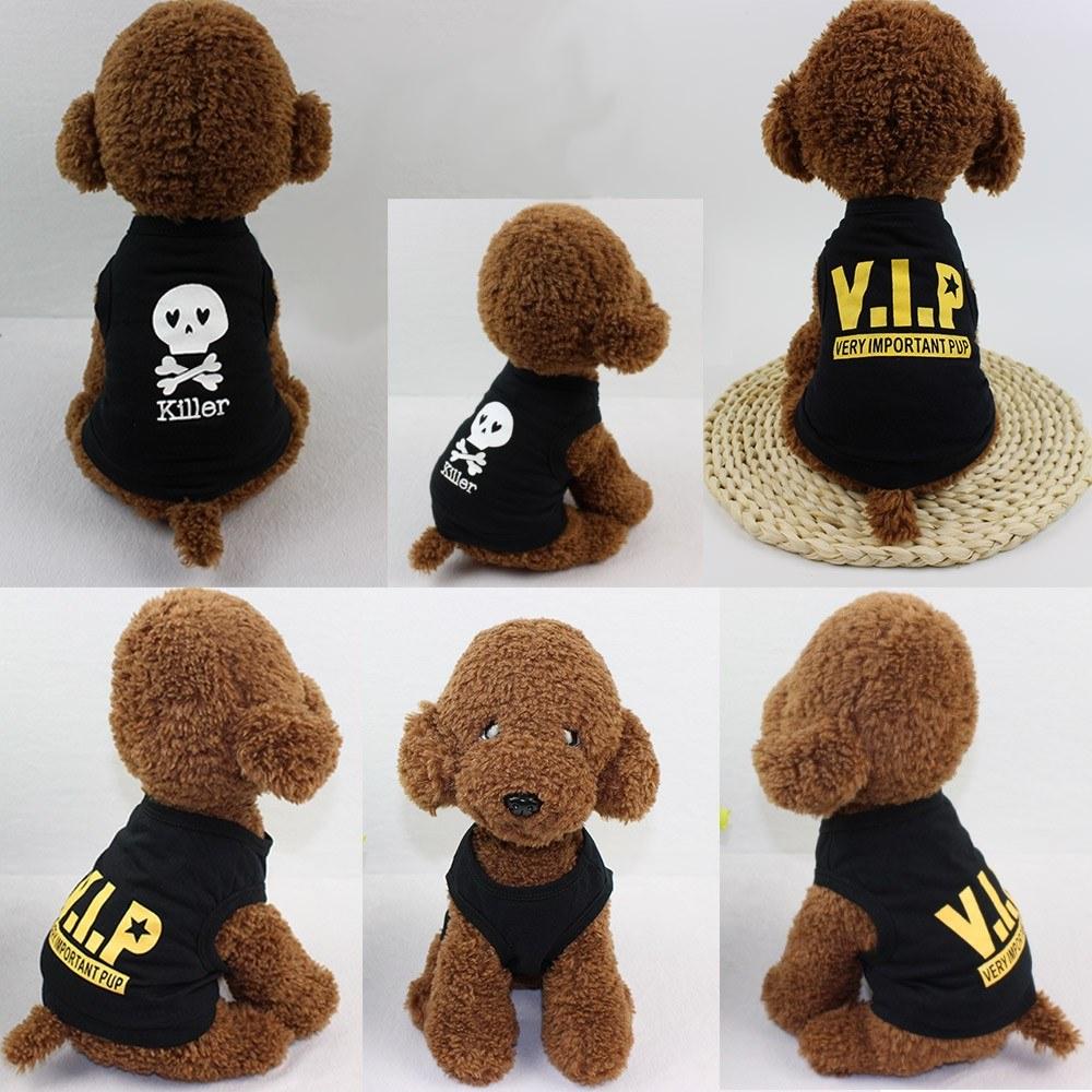 Dog Shirt Dog T-Shirts Dog Summer Clothes Printed Pet Vest