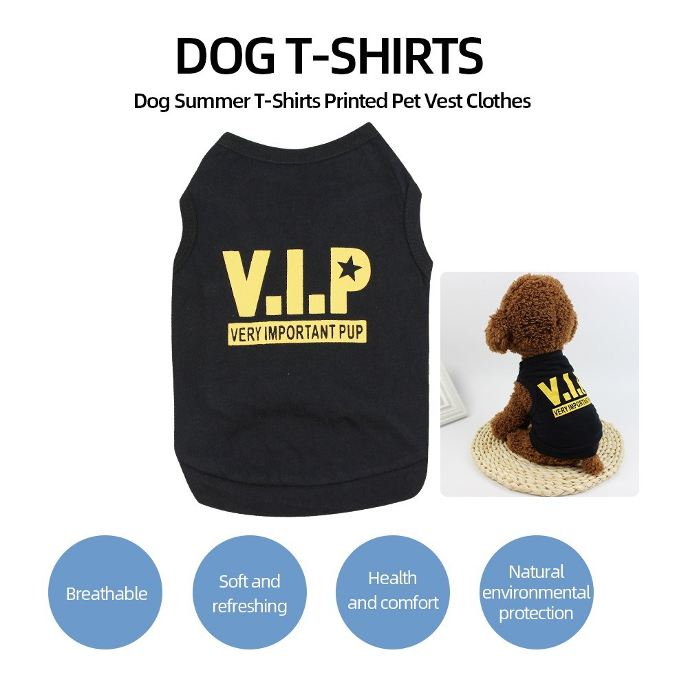 Dog Shirt Dog T-Shirts Dog Summer Clothes Printed Pet Vest