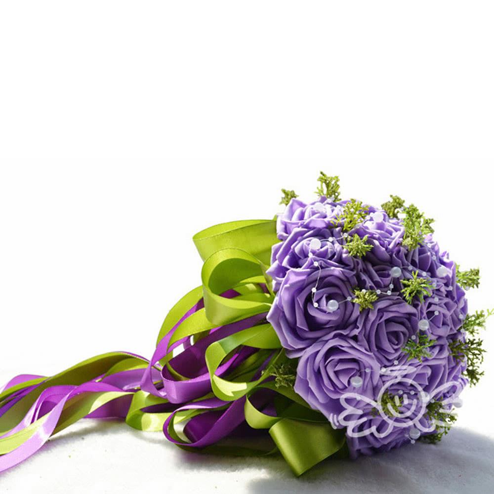 pe de bouquet de mariage rose fleurs artificielles bouquets de mari e demoiselle d honneur. Black Bedroom Furniture Sets. Home Design Ideas