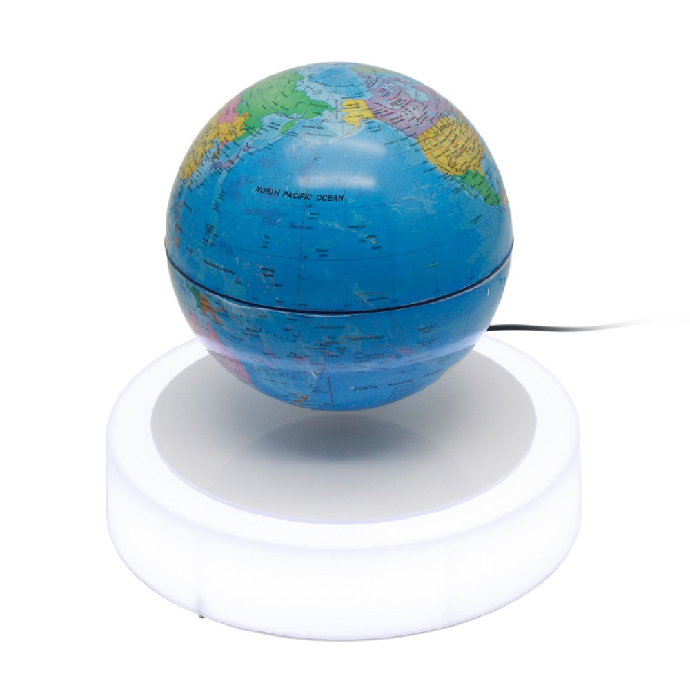 Magnetic floating globe 6inch suspension levitation rotating ball magnetic floating globe 6inch suspension levitation rotating ball led light base levitating world map globe for home office decoration kids education gifts freerunsca Image collections