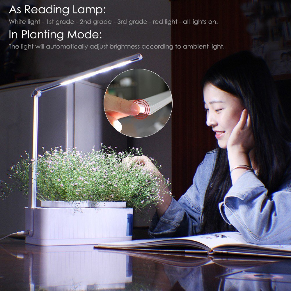 Image result wey dey for Smart Herb Garden Kit LED Grow Light Hydroponic Growing Multifunction Desk Lamp Garden Plants Flower Hydroponics Grow Tent Box