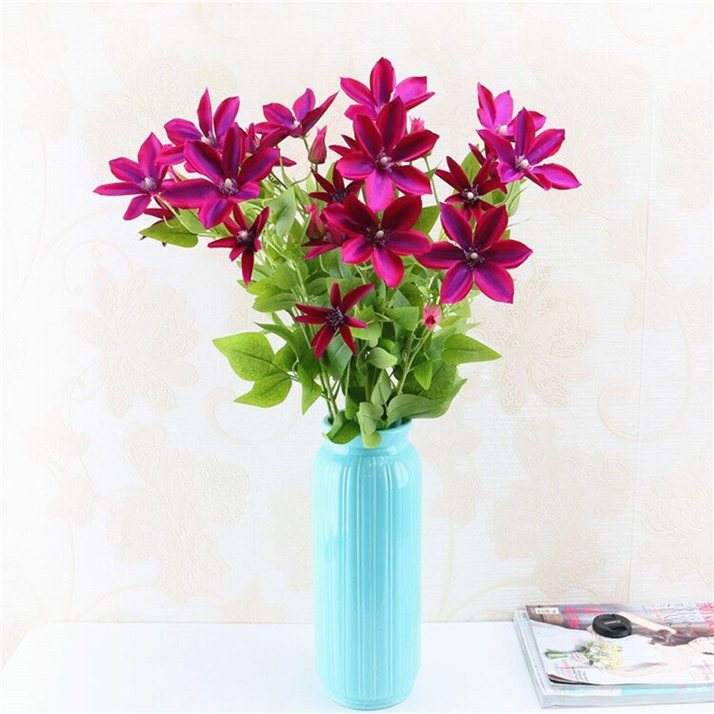 Artificial Trident Lotus Flower Simulation Silk Floral Sales Online