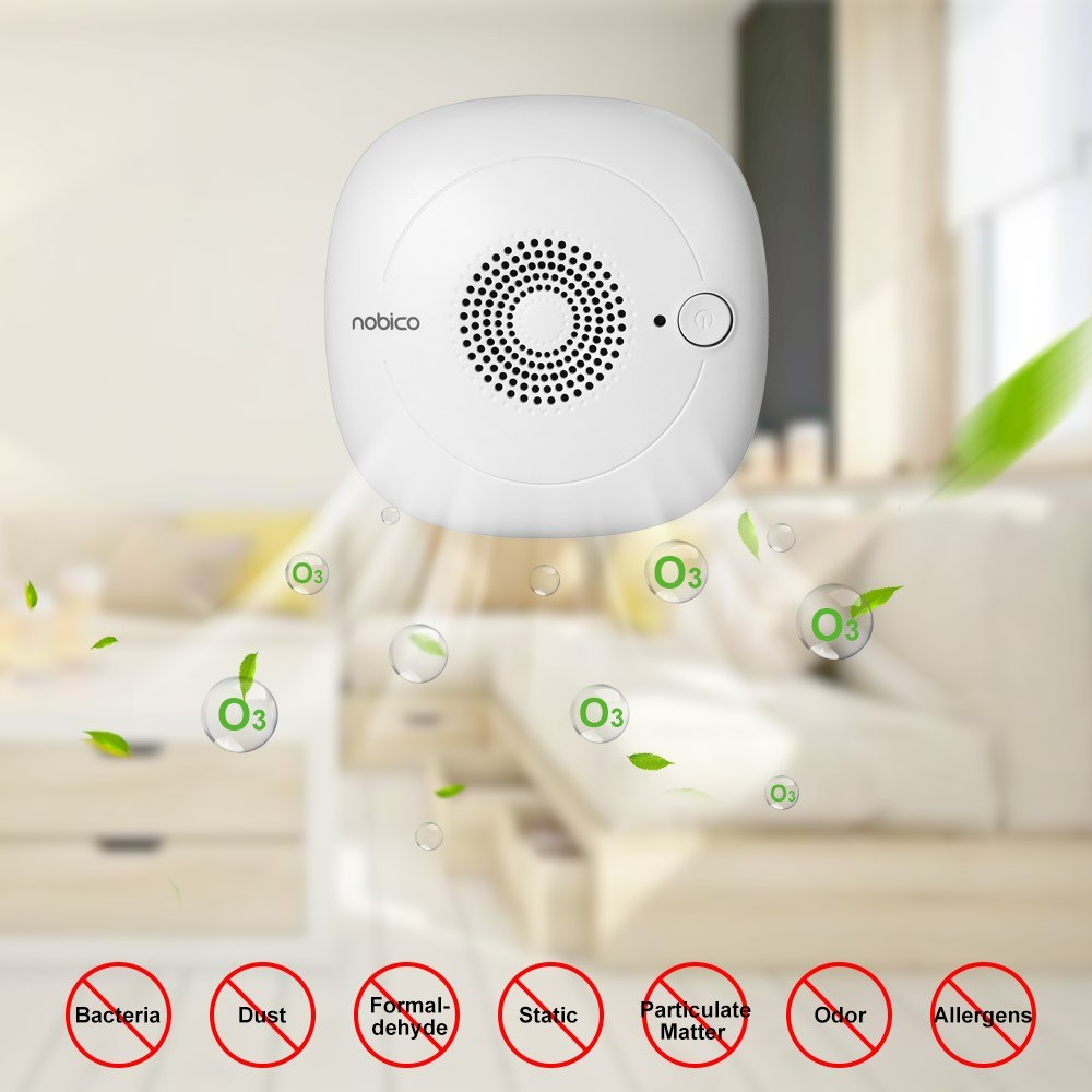 Portable Ozone Deodorizer Sterilizer O3 Generator Negative Ion Air Purifier