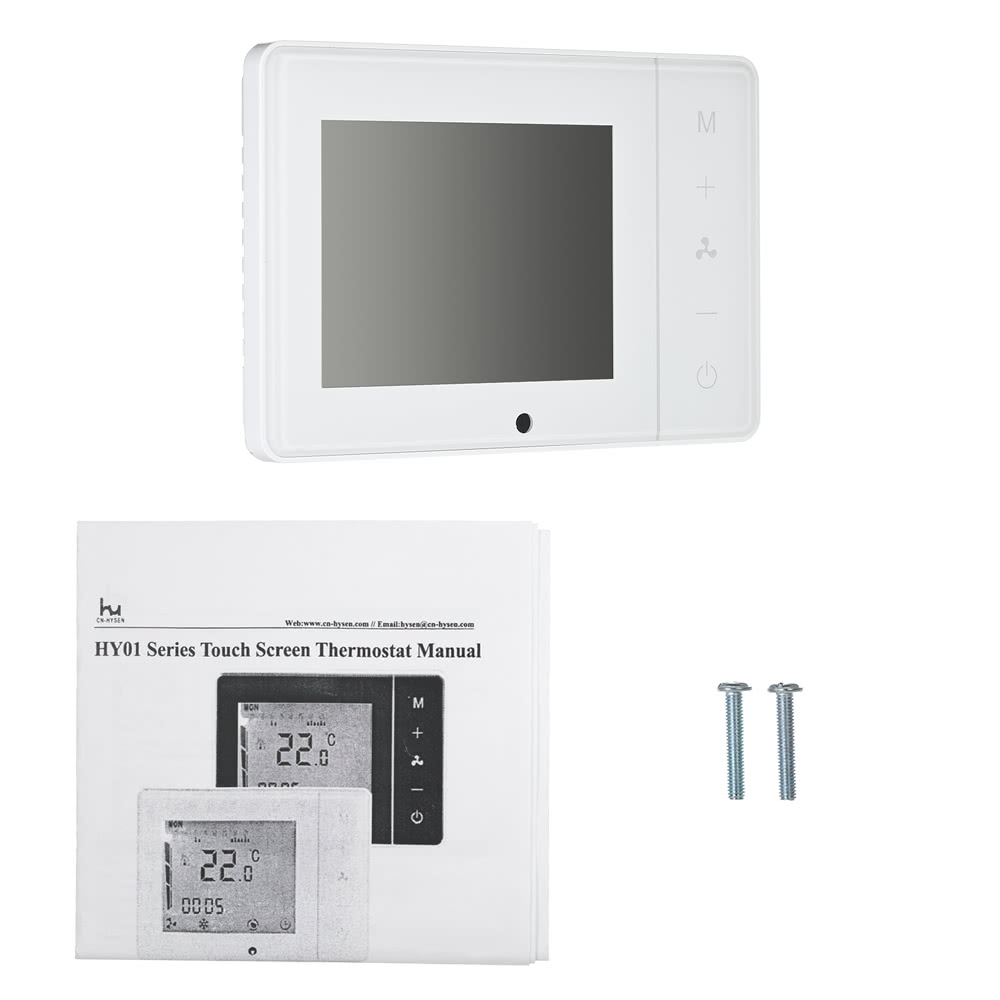 110230v Air Conditioner 2 Pipe 4 Thermostat With Lcd Display Good Quality Touch Screen Programmable Room Temperature Controller Home Improvement