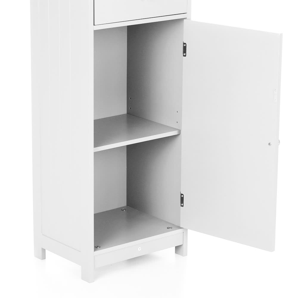 Ikayaa Modern Tower Tall Storage Cabinet With Doors Drawer Wooden Floor Cabinet Home Furniture
