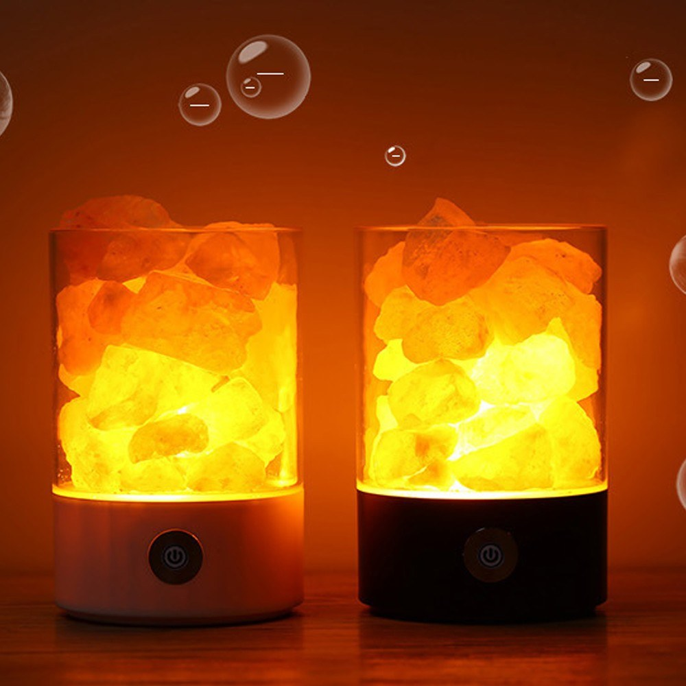 USB Crystal Light Natural Himalayan Salt LED Air Purifier