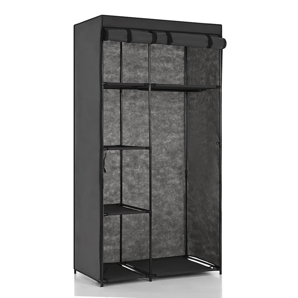 Ikayaa portable fabric closet wardrobe cabinet storage for Over wardrobe storage