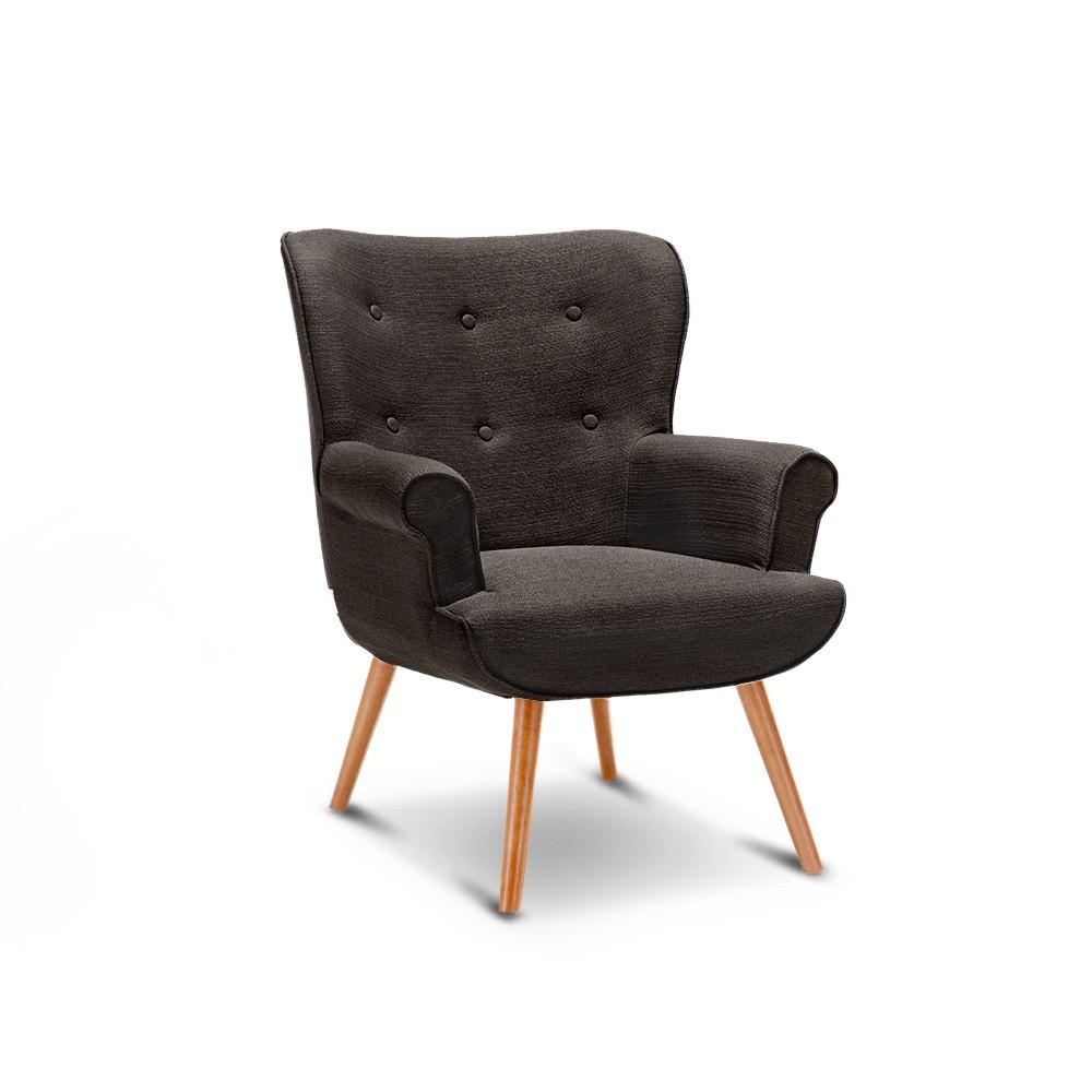 Chaise ikayaa contemporaine linen fabric fuligule accent for Chaise salon contemporaine