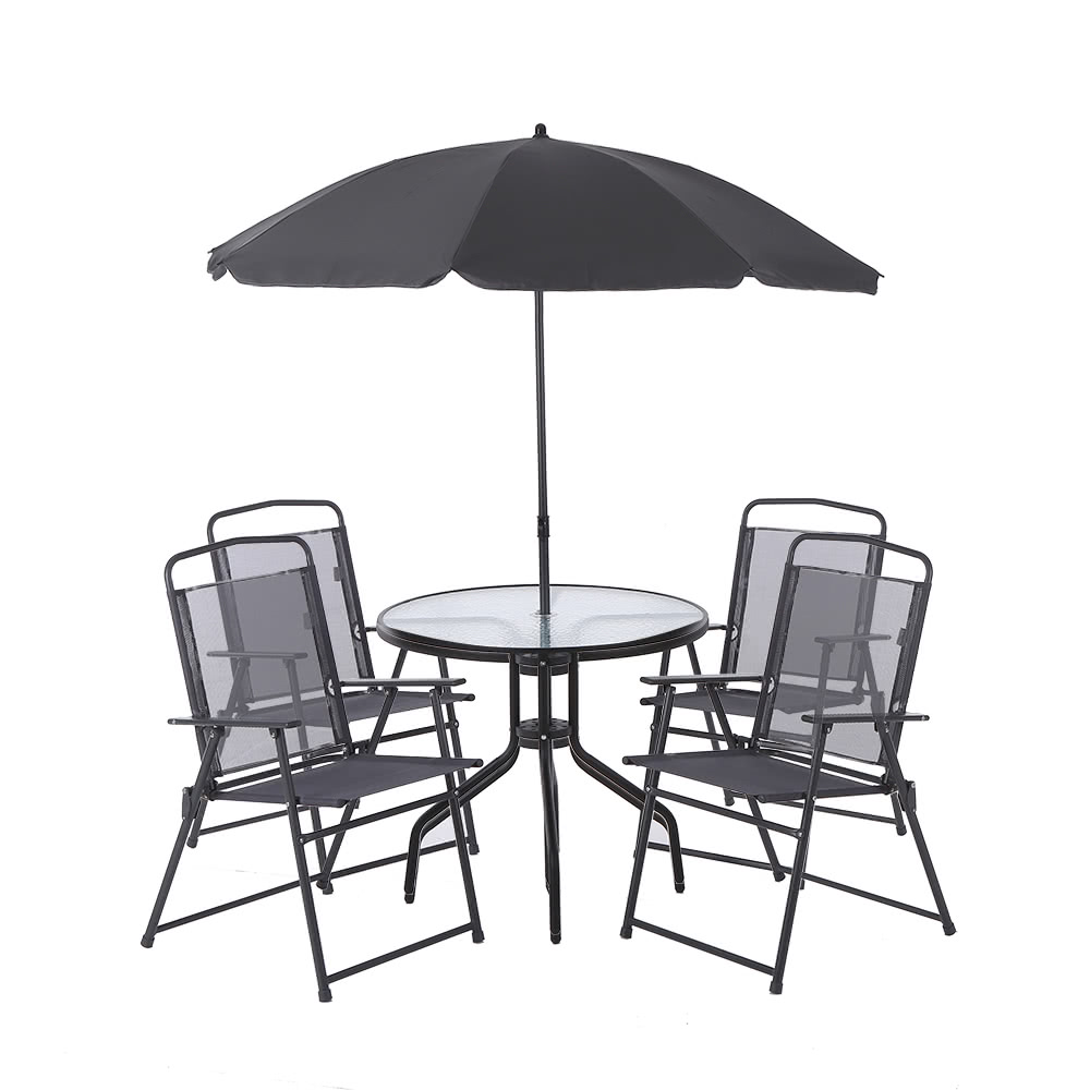 Ikayaa 6pcs p tio ao ar livre de jantar conjunto de for Mobiliario de patio
