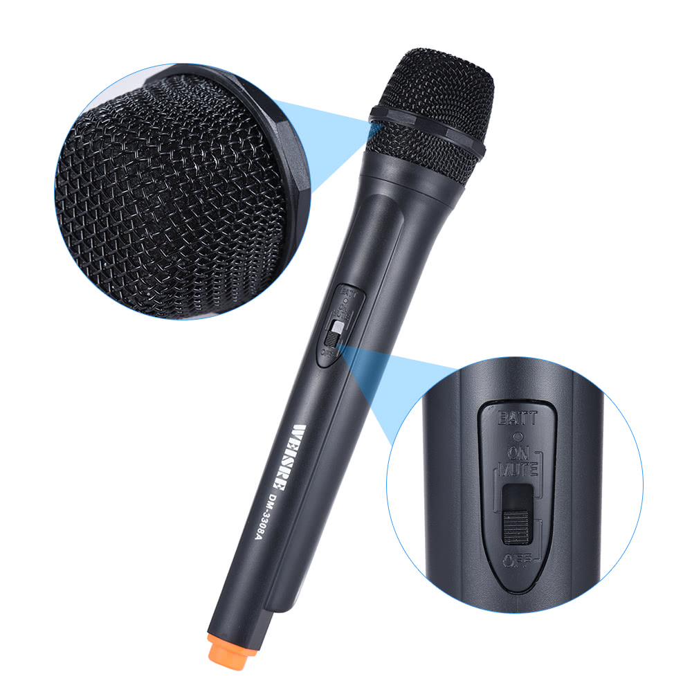 handheld wireless unidirectional dynamic microphone voice amplifier for sale us black. Black Bedroom Furniture Sets. Home Design Ideas
