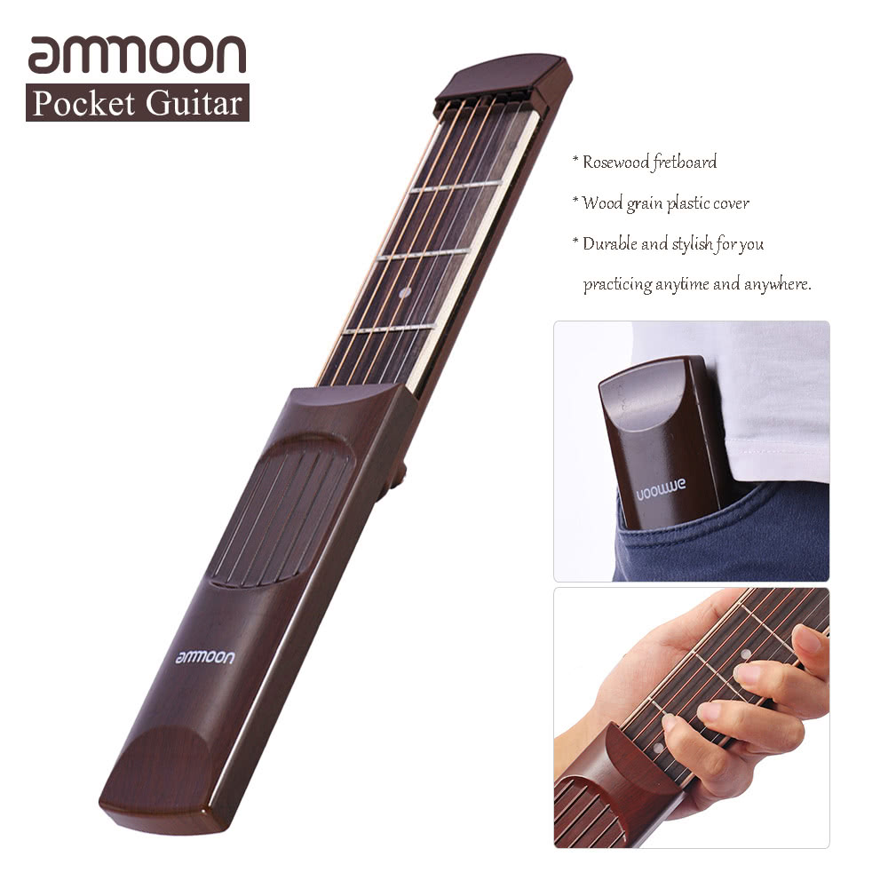 Ammoon Portable Pocket Acoustic Guitar Practice Tool Gadget Chord