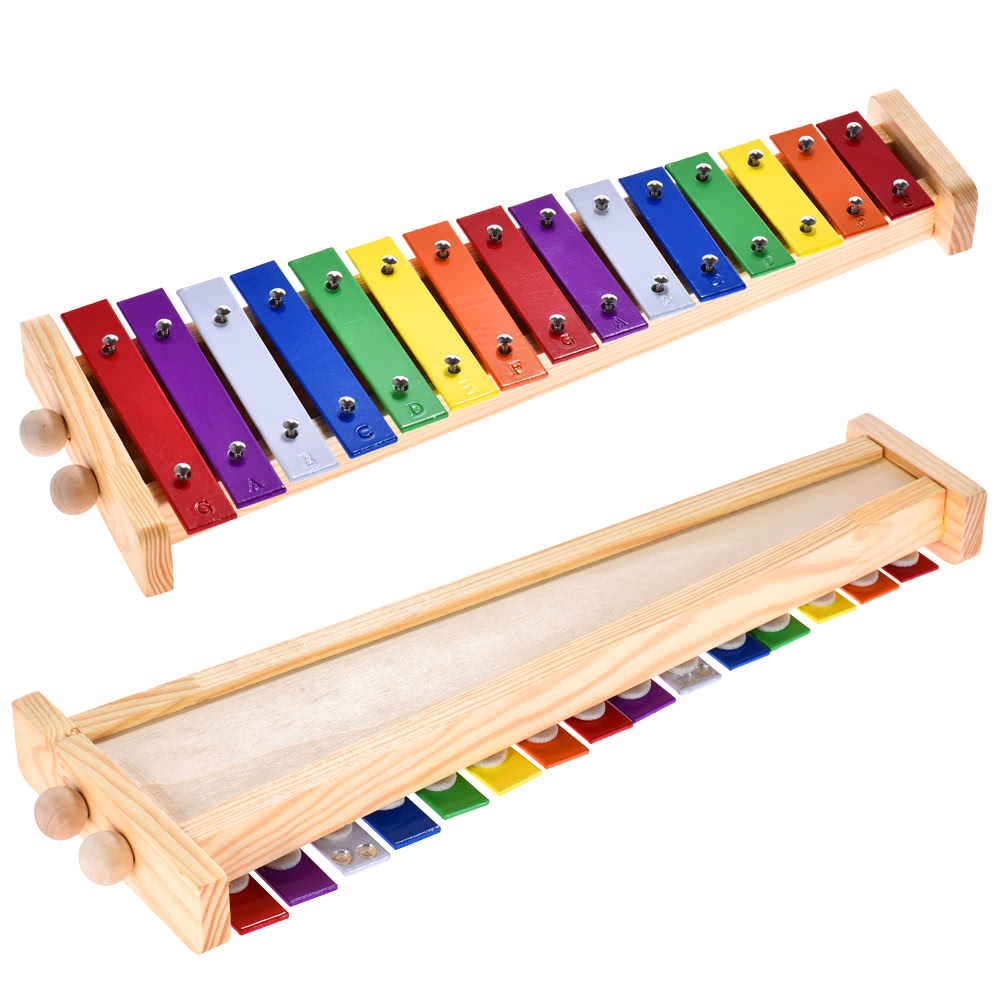 colorful glockenspiel xylophone wooden aluminum percussion musical instrument for sale us 14. Black Bedroom Furniture Sets. Home Design Ideas