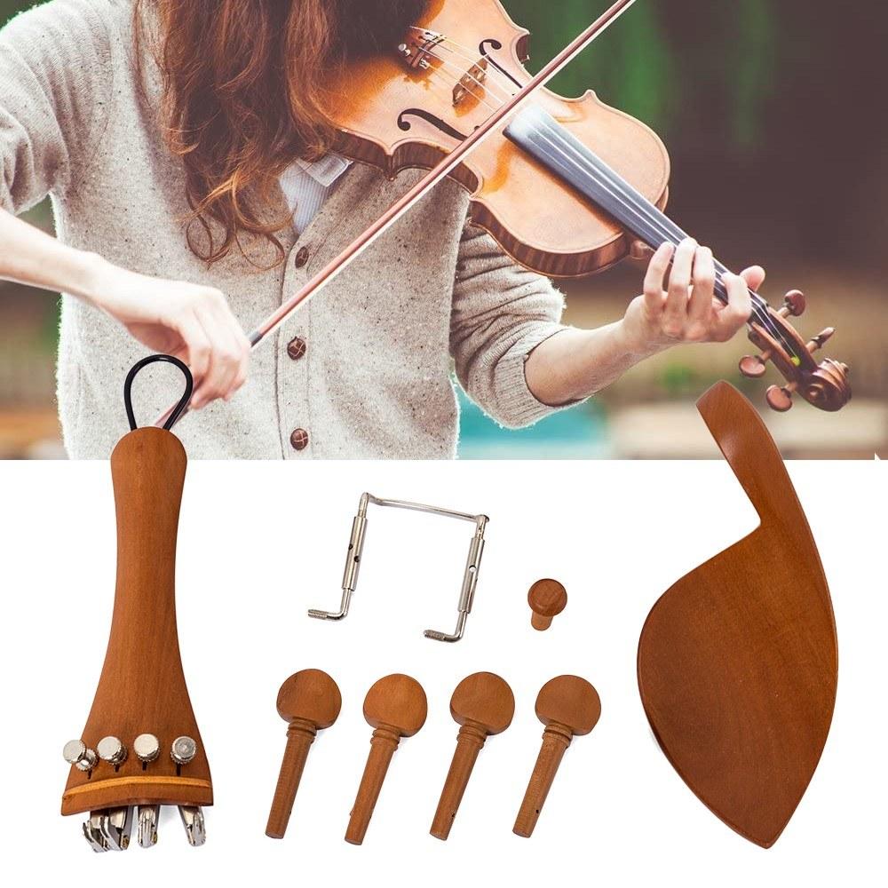 4//4 4//4 Kit Violino Accessori per Violino Full Size ASSE per Corde Cordiera Appoggia Mento