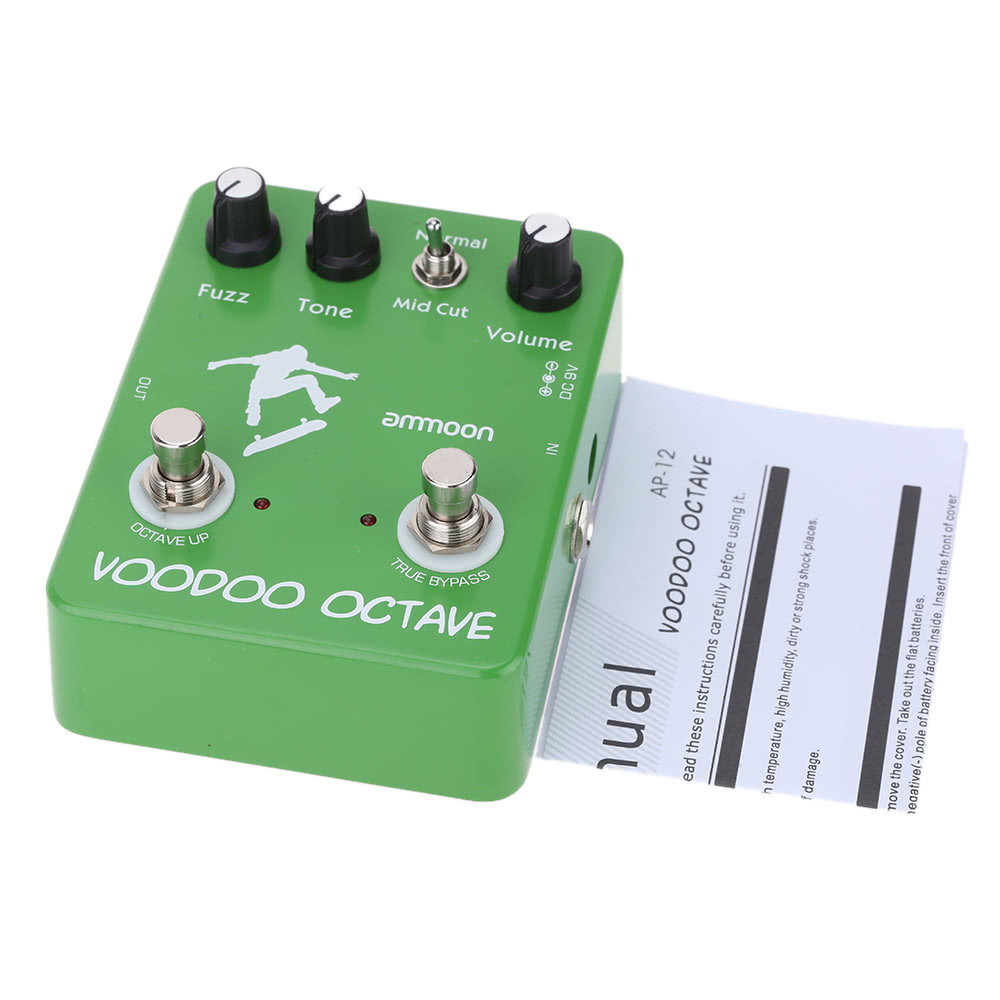 Ammoon Ap 12 Voodoo Octave Fuzz Effect Guitar Pedal True Octaver Effects Bypass For Sale Us2305 Tomtop