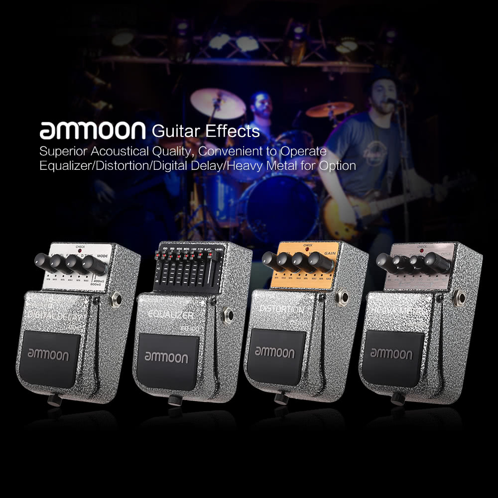 ammoon HM 100 Heavy Metal Pedal Effect Guitar Effects for Sale US 29 .