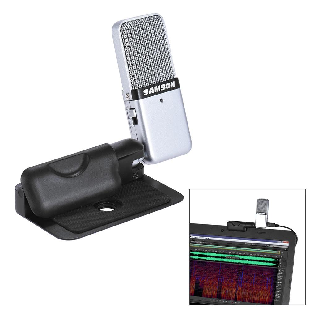 Samson Go Mic Mini Portable Recording Condenser Microphone Clip On Design For Sale Us4199 Black White Tomtop