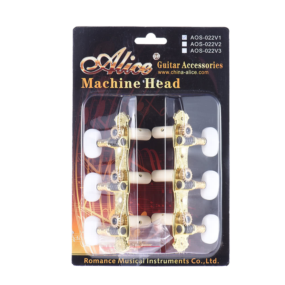 Alice Aos 022v1p 2pcs L R High Grade Gold Plated Acoustic Classical