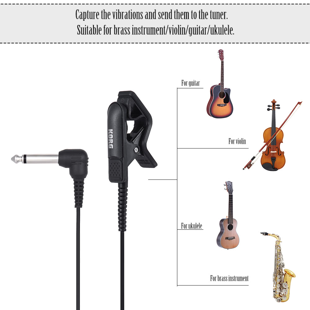 Korg Cm 200 Bkrd Piezo Clip On Kontak Mikrofon Mic Dengan 635mm 1 4 Inch Untuk