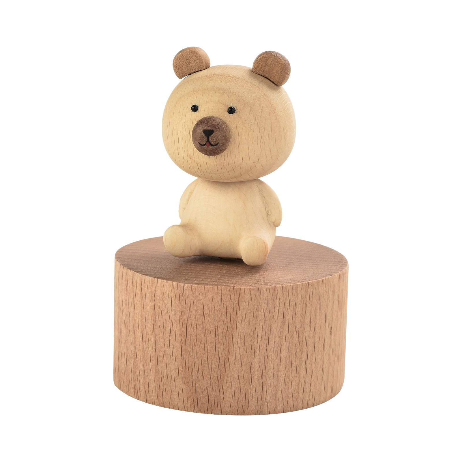 tomtop.com - 52% OFF ammoon Wooden Music Box with Cute Figurine Home Decor Crafts, Limited Offers $15.99